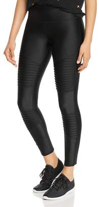 Andrew Marc Shiny Spandex Moto Leggings