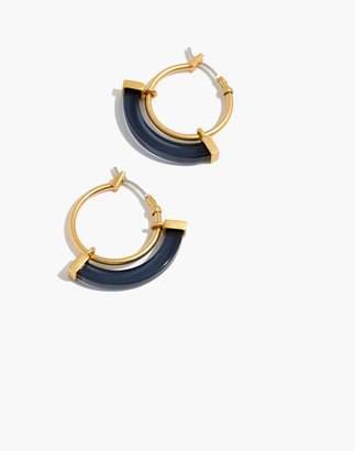 Madewell Resin Sliding Hoop Earrings