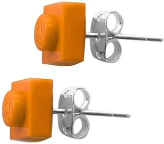 Lego Schmuckzeug Women's 1x1 Orange Cuadrado Earrings