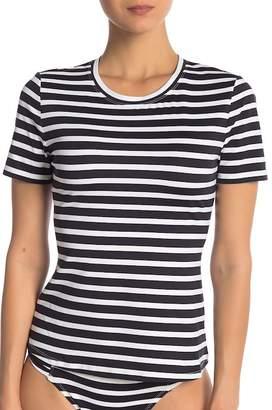 Tommy Bahama Breton Short Sleeve Stripe Rash Guard
