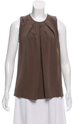 Balenciaga Pleated Sleeveless Top