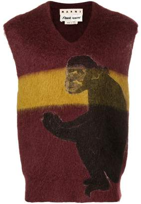 Marni colour block sleeveless sweater