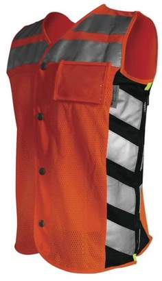 Missing Link Meshed Up Safety Vest (Orange, XX-Large)