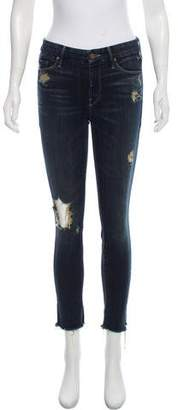 Mother Jaded & Torn Cropped Jeans