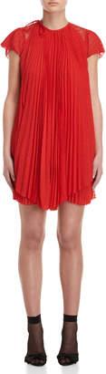Giamba Pleated Fil Coupe Mini Dress