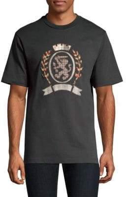 Cotton Plaid Crest T-Shirt