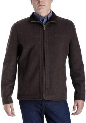 London Fog Towne By Men's Towne by Regular-Fit Wool-Blend Fleece Hipster Jacket