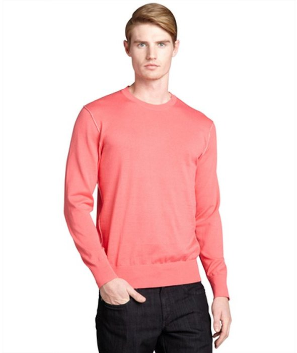 Paul Smith pink cotton crewneck pullover