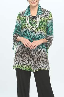 IC Collection Colorful Tunic Blouse