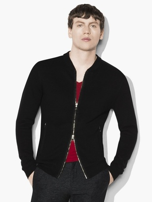 Linen Bomber Sweater $398 thestylecure.com