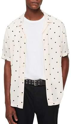 AllSaints Kuta Slim Fit Camp Shirt
