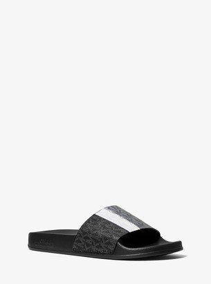 MICHAEL Michael Kors Ayla Color-Block Logo Slide