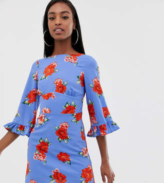 Fashion Union Tall midi tea dress in floral