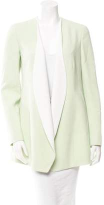 Narciso Rodriguez Light Green Open Front Jacket
