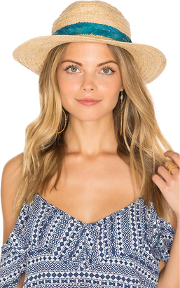 Hat Attack Embroidered Inset Band Hat $98 thestylecure.com