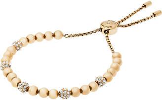 Michael Kors Gold-toned stainless steel slider bracelet
