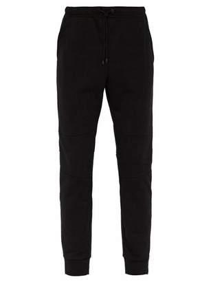 Fendi Reflective Logo Cotton Track Pants - Mens - Black Multi
