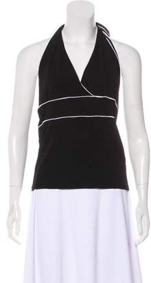 Lauren Ralph Lauren Surplice Neck Halter Top