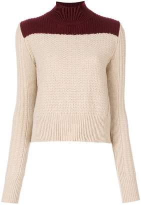 Marni bi-colour roll neck sweater