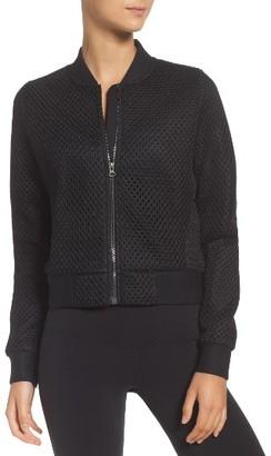 Women's Alo Mytyh Mesh Bomber Jacket $164 thestylecure.com