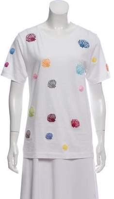 Rosie Assoulin 2018 Seashell Short Sleeve T-Shirt