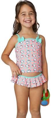 Hello Kitty Girls' Sweet Dreams Tankini Ruffle Two Piece Set