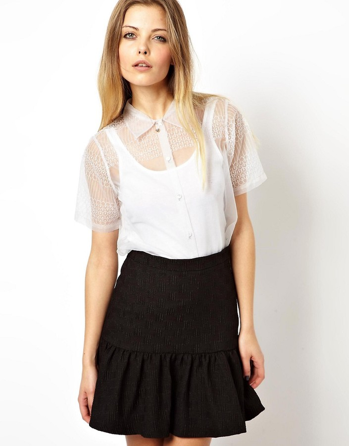 Asos Premium Blouse with Ethereal Embroidery