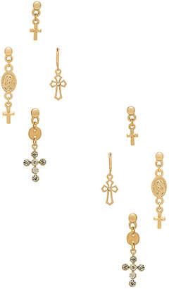 Ettika Cross Earring Set