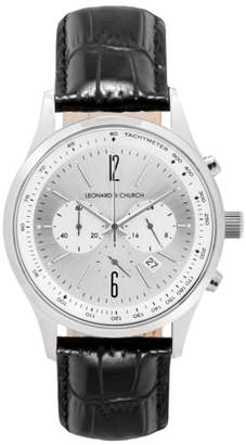 Church's LEONARD AND Leonard & Barclay Chronograph Leather Strap Watch, 43mm