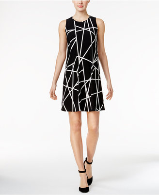 Tommy Hilfiger Geo-Print Shift Dress $99 thestylecure.com