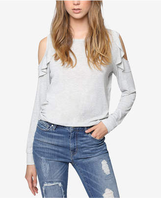 Sanctuary Ruffled Cold-Shoulder Top