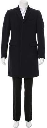 Burberry Wool Notch-Lapel Overcoat