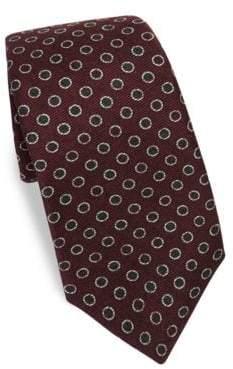 Kiton Outline Dot Silk Tie