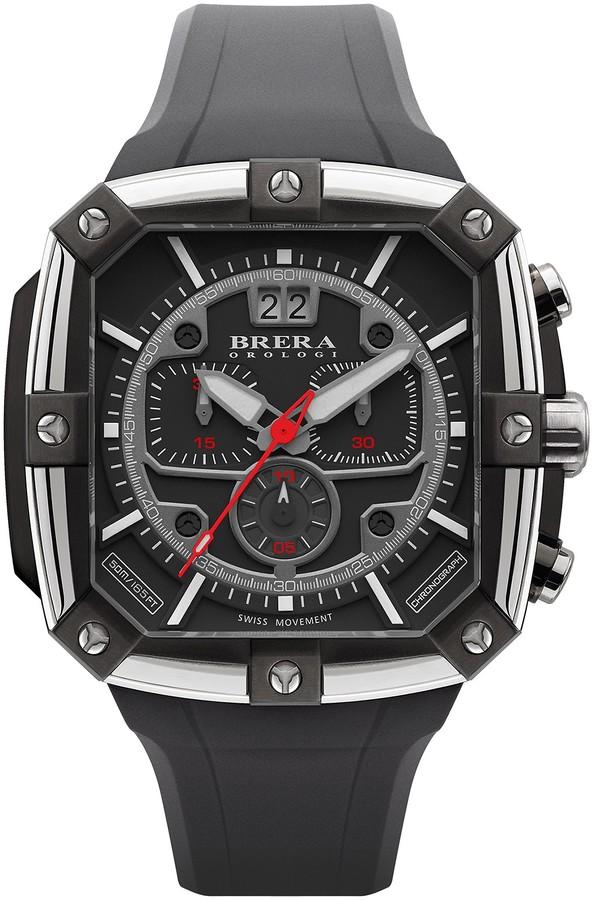 BreraBrera Men's Square Supersportivo Watch