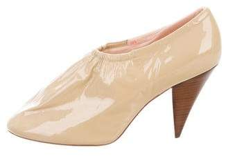 Celine Patent Leather Round-Toe Pumps
