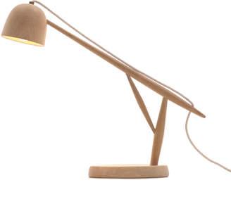 Summer Studio White Oak Crane Desk Lamp