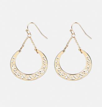 Avenue Scroll Half Moon Drop Earrings