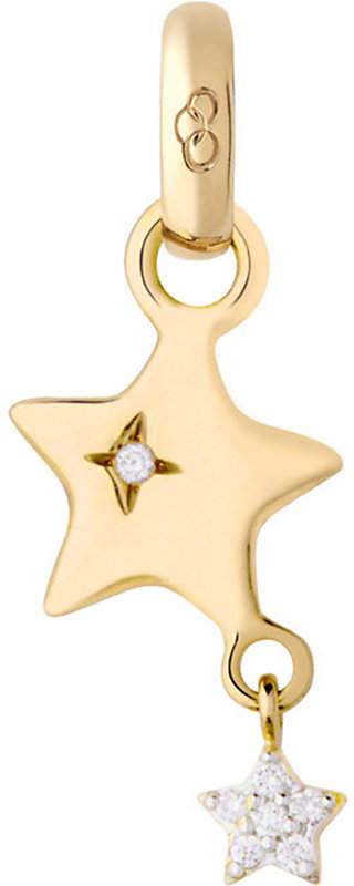 18ct yellow-gold and diamond shooting star charm