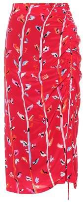 Altuzarra Fausto floral silk midi skirt