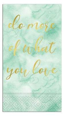 """Do More Of What You Love"" 15-Count Paper Guest Towels"