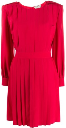 Fendi pleated shift dress