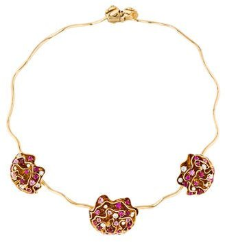Louis Vuitton 18K Ruby, Sapphire & Diamond Louisette Necklace $19,995 thestylecure.com