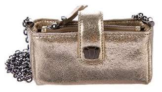Henri Bendel Metallic Leather Mini Crossbody Bag
