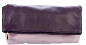 Emilio Pucci Leather Foldover Clutch