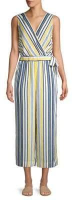 Jones New York Sleeveless Striped Jumpsuit