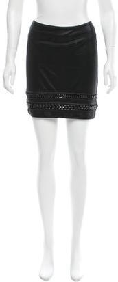 AllSaints Chain-Accented Mini Skirt $75 thestylecure.com