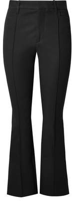 Joseph Zed Cropped Stretch-garbardine Flared Pants - Black