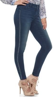 JLO by Jennifer Lopez Women's Embellished Midrise Skinny Jeans