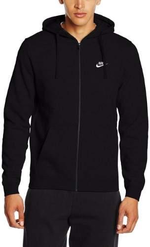 Nike 804389-010 : Men's Sportswear Hoodie Black/White (XXL)