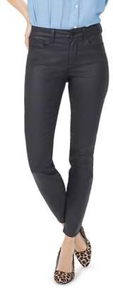 NYDJ Ami Coated Skinny Jeans in Black